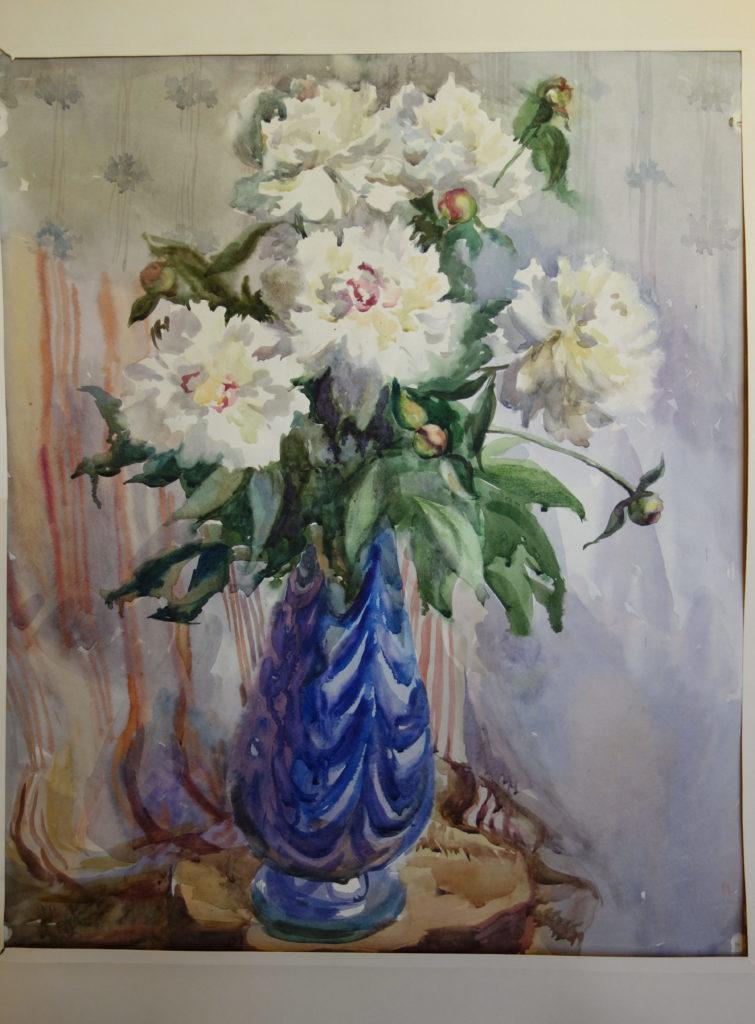 """Anna Serova """"Pfingstrosen"""", Aquarell, 60x80cm, (1999)"""