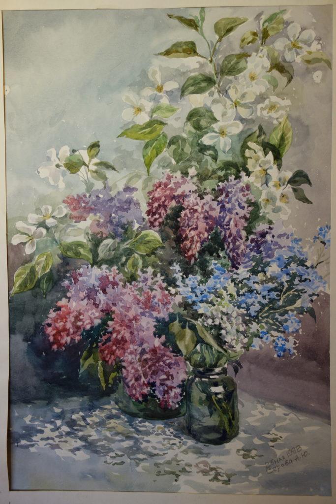 "Serova Anna ""Flieder"", Aquarell, (1998), 80 x 60 cm"